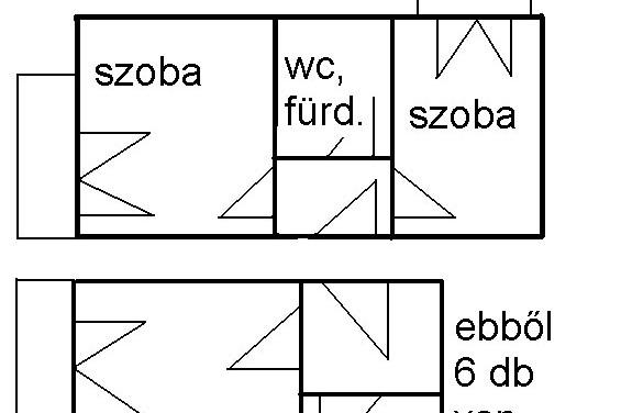 Susanne szobáinak, apartmanjainak alaprajza