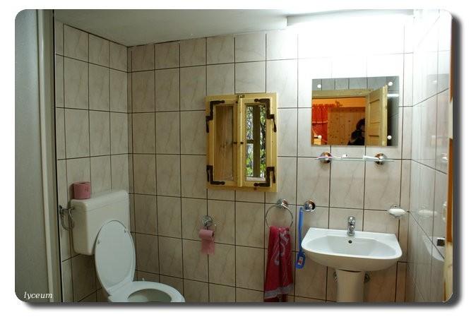 Bányászház fürdőszobája