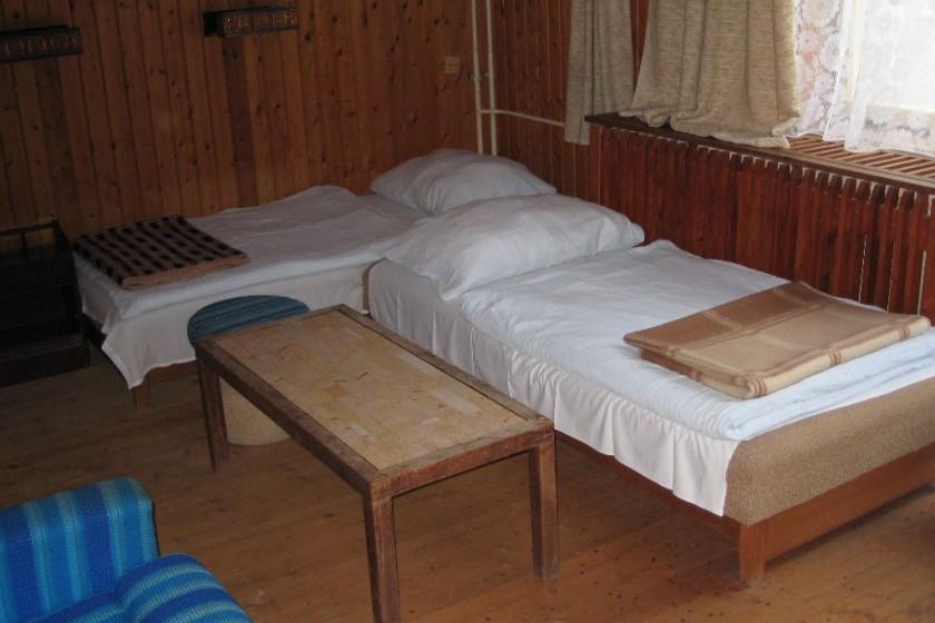 Erdészház szobája
