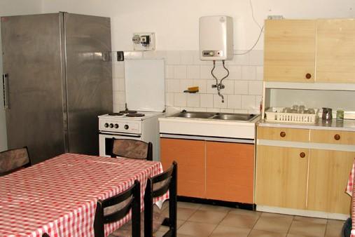 Vendégház konyhája