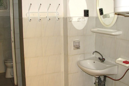 Vendégház fürdőszobája