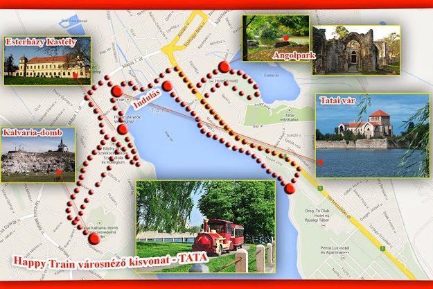 tata térkép látnivalók Tatai városnéző kisvonat | Sulitúra tata térkép látnivalók